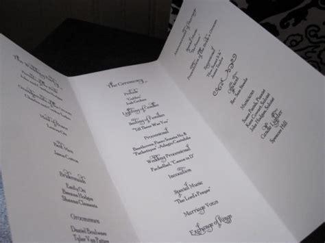 tri fold foil program paper ecru pearl wedding programs for the