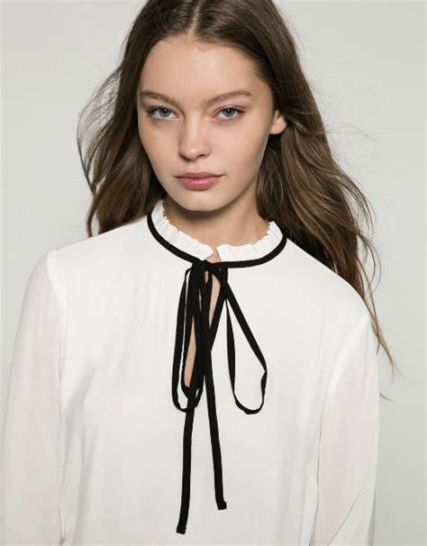 Kaos Bershka by Nuova Tendenza Moda Inverno 2016 La Camicia Con Il Fiocco