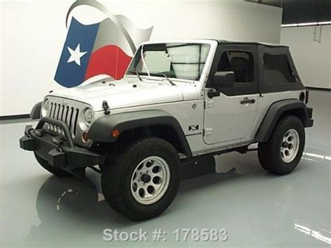Jeep Roadside Assistance Number Purchase Used 2007 Jeep Wrangler X Convertible 4x4 6 Speed