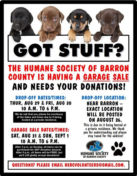 Fundraising Letter Humane Society Humane Society Of Barron County Fundraiser Swant Graber