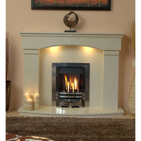Stock Cambridge Marble Fireplace Hearth & Back Panel
