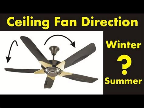 ceiling fan direction for summer ceiling fan direction in the winter and summer diy youtube