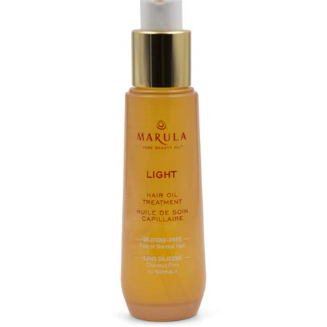 light oils for hair lightweight hair treatment for hair marula