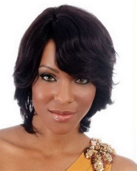 long layered and feathered wig hairstyle for black women long layered and feathered wig hairstyle for black women