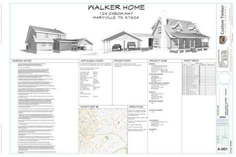 Home Design Blueprints the kinzel escape log home complete blueprints