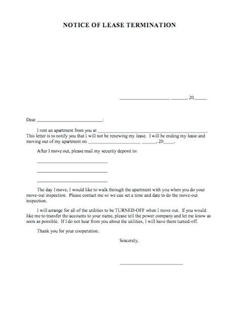 termination letter template qld lease letter lease to terminate month to month