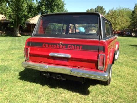 1977 jeep cherokee chief purchase used 1977 jeep cherokee chief wagoneer one