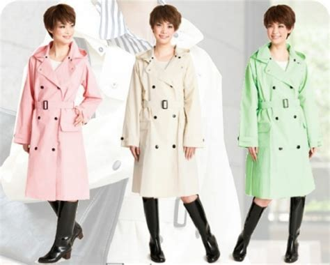 Jas Hujan Jas Hujan Trendy Wine Polkadot inspirasi aneka coat cantik untuk musim hujan