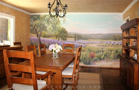 painted wall mural lavender fields of southern
