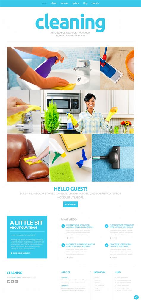 cleaning responsive joomla template 50593