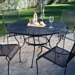 piece wrought iron patio furniture dining set seats  greenhome