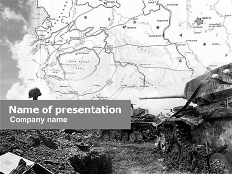 World War Ii Powerpoint Template Backgrounds 01136 Poweredtemplate Com War Powerpoint Template