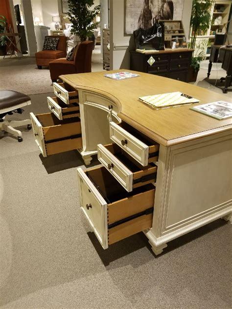 antique white executive desk 66 inch cottonwood farmhouse antique white executive desk