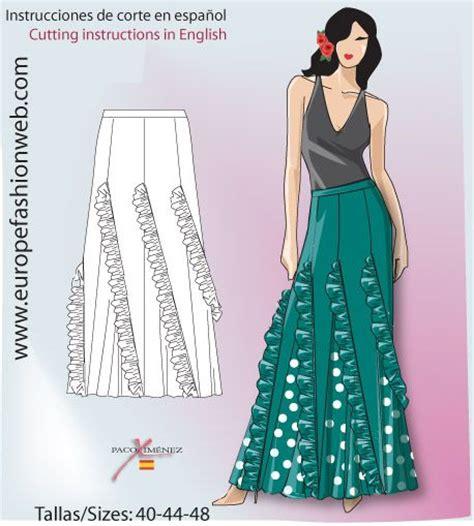 Celana Flaminggo jupe verte quot de rociera quot sewing