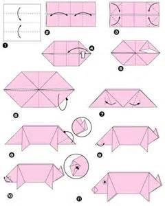 Simple Origami Pig - easy origami pig comot