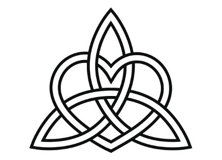 tribal triquetra tattoo celtic triquetra knot transparency bk by