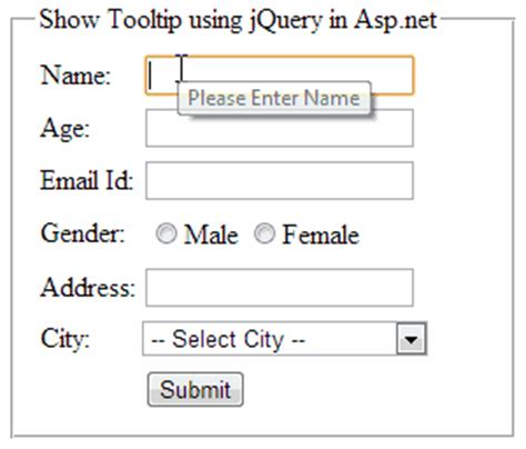 tutorial jquery ajax asp net how to show jquery tooltip message on mouse over on asp