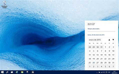 Calendario Windows C 243 Mo Activar El Nuevo Calendario Y Reloj Ocultos En La
