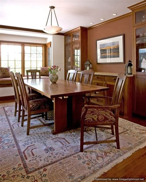 craftsman style home traditional dining room san