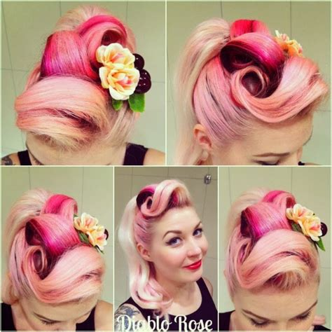 how to pin up hair how to do rockabilly pin up hairstyles victory rolls