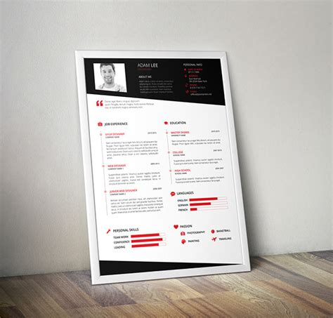 free resume template design for ui ux and web designers