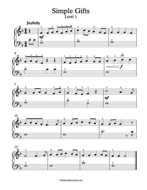 printable sheet music for free on piano free piano arrangement sheet music simple gifts