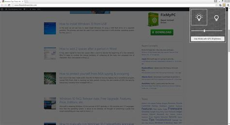 chrome night mode night mode page dim firefox and chrome extension