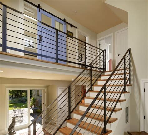 Staircase Banister Designs by Choosing The Stair Railing Design Style