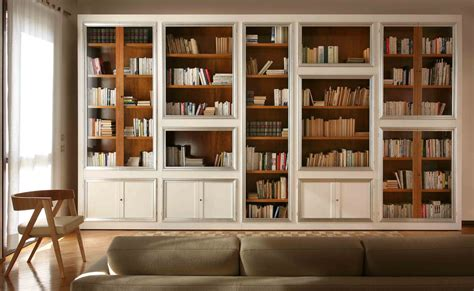living room bookcase with doors