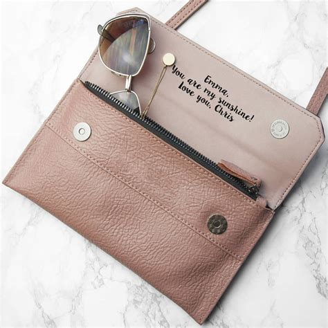 Ask Styledash Gift For Our 3rd Anniversary by Personalised Leather Clutch Bag By Letteroom