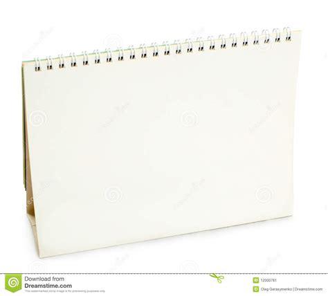 blank desk calendar stock image image 12000761