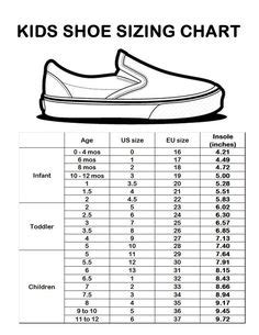 shoe size chart sperry kids shoe size conversion chart includes women s shoe