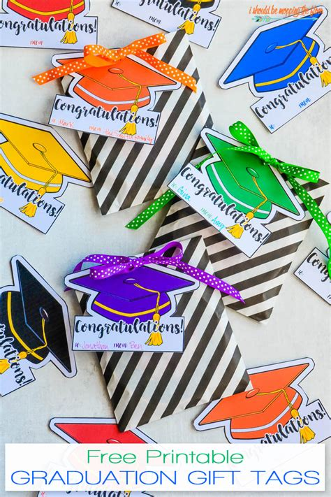 Graduation Gifts - i should be mopping the floor free printable gift tags