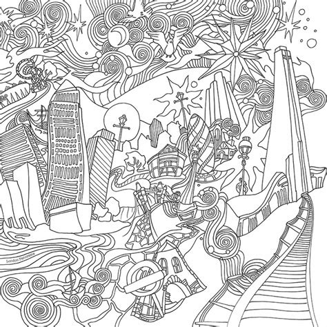 Magical City Coloring Book the magical city colouring book by lizzie cullen