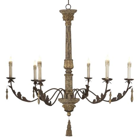 European Chandelier Grand Antique Gold European Style 6 Light Chandelier Kathy Kuo Home