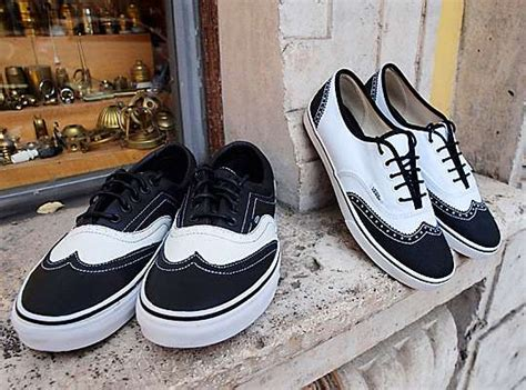 brogue skate shoes van era wingtip