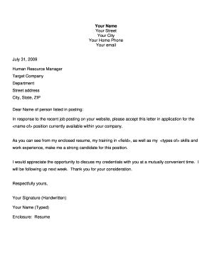 printable cover letter format templates fillable
