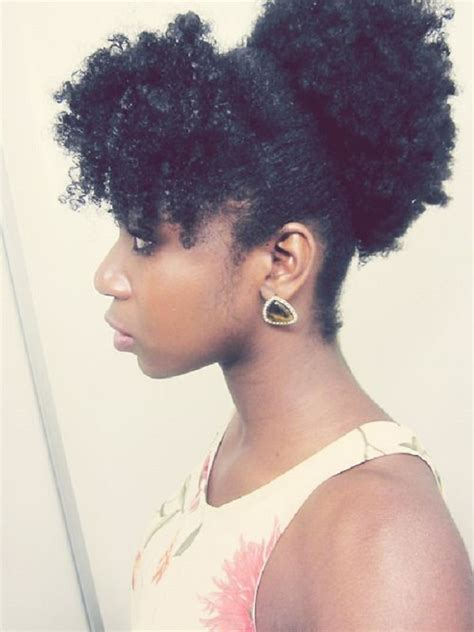 bang and bun hairstyles 8 quick easy hairstyles on medium short natural hair