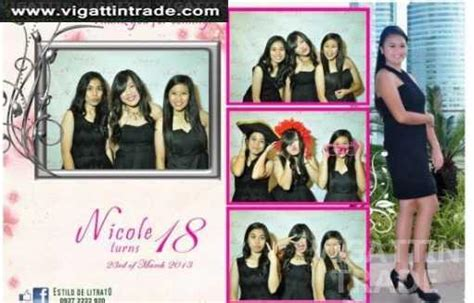 photo booth layout design for debut debut photobooth cabuyao calamba vigattin trade