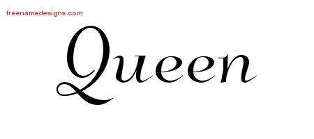 queen tattoo writing elegant name tattoo designs queen free graphic free name