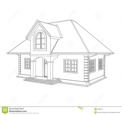 house drawing house technical draw stock illustration illustration of paperwork 20382137