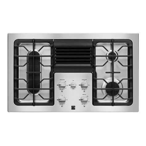 Downdraft Cooktops Kenmore Elite Downdraft Gas Cooktop Modern Ventilation At Sears