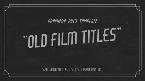 how to save title card as template premiere silent title card template www pixshark