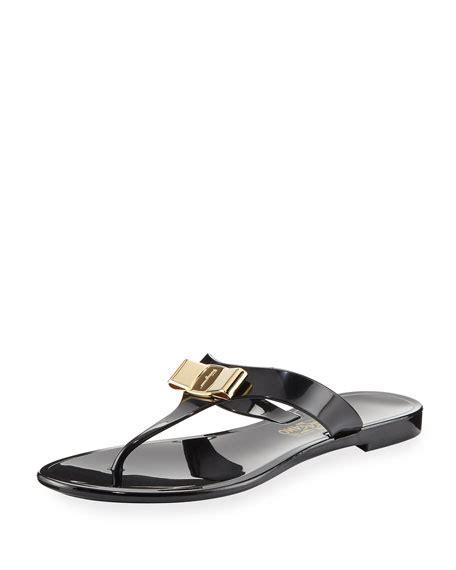 salvatore ferragamo flat sandals salvatore ferragamo pana t flat sandal black