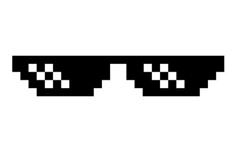 Meme Glasses - deal with it glasses transparent png stickpng