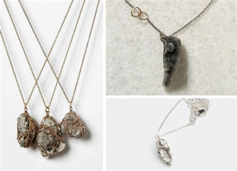 shades of tangerine mineral necklace diy