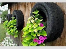 How to DIY Old Tire Garden Ideas —Recycled Backyard Tire Stack