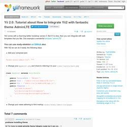 yii2 theme tutorial yii framework pearltrees