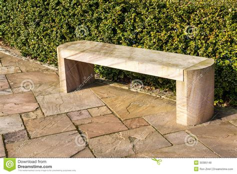 marble bench modern stone marble garden bench stock photo image of