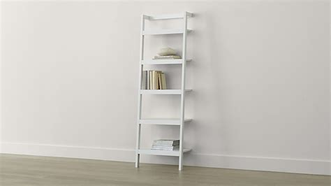 sawyer white leaning 245quot bookcase crate and barrel